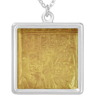 Detail from the Golden Shrine Square Pendant Necklace