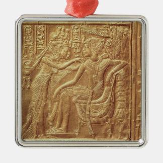 Detail from the little shrine of Tutankhamun Metal Ornament