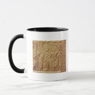 Detail from the little shrine of Tutankhamun Mug