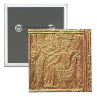 Detail from the little shrine of Tutankhamun Pinback Button