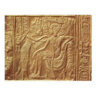 Detail from the little shrine of Tutankhamun Postcard