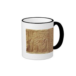 Detail from the little shrine of Tutankhamun Ringer Coffee Mug