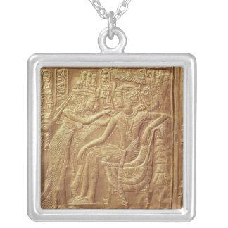Detail from the little shrine of Tutankhamun Square Pendant Necklace