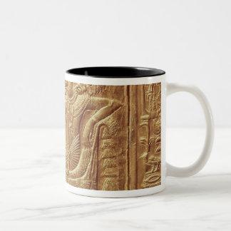 Detail from the little shrine of Tutankhamun Two-Tone Coffee Mug