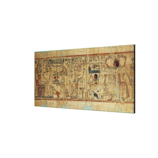 Detail from the papyrus of Nespakashuty, New Kingd Stretched Canvas Print
