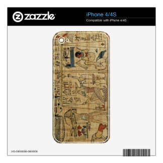 Detail from the papyrus of Nespakashuty, New Kingd Decals For iPhone 4S