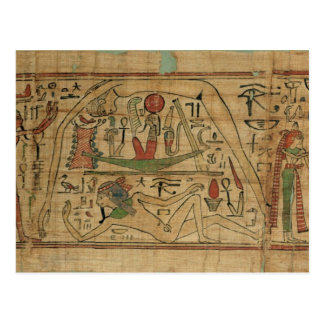 Detail from the papyrus of Nespakashuty showing th Post Cards
