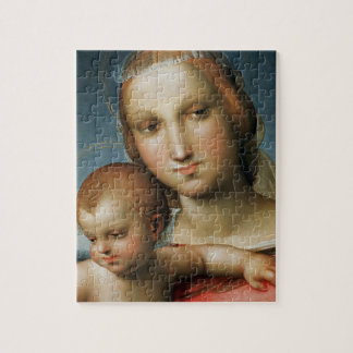 Detail from <Virgin and Child> Attributed to Rapha Jigsaw Puzzle