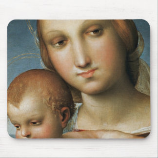 Detail from <Virgin and Child> Attributed to Rapha Mouse Pads