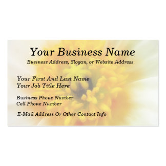 Detail - Iceland Poppy Double-Sided Standard Business Cards (Pack Of 100)