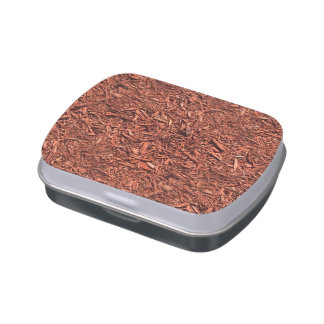 detail image of red cedar mulch for gardener candy tins