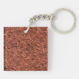 detail image of red cedar mulch for gardener keychain