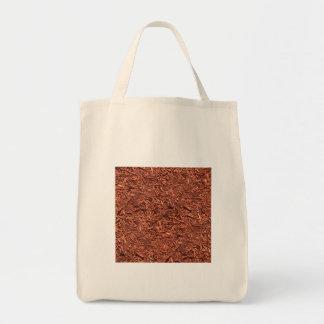 detail image of red cedar mulch for gardener tote bag