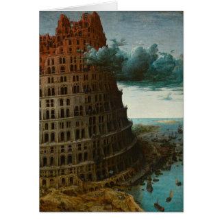 Detail: Little Tower of Babel by Pieter Bruegel Card