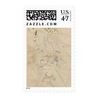 Detail Map of Mammoth Hot Springs Postage