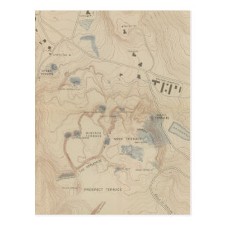 Detail Map of Mammoth Hot Springs Postcard