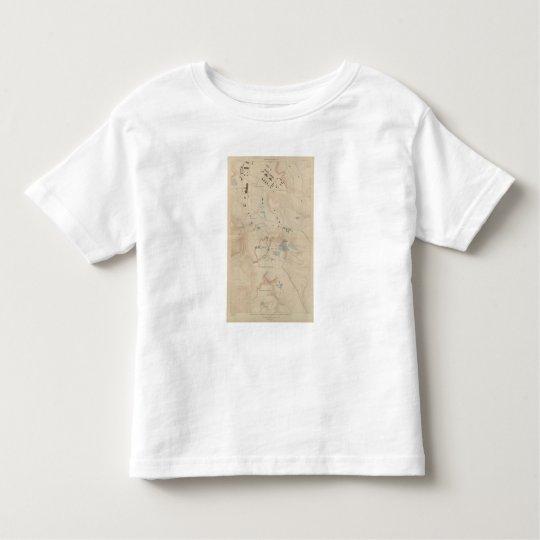 Detail Map of Mammoth Hot Springs Toddler T-shirt