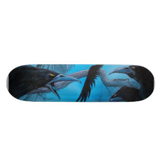 Detail of 13 Crows Skateboard