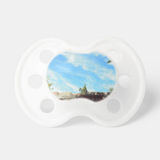 Detail of a blue sky with clouds pacifier