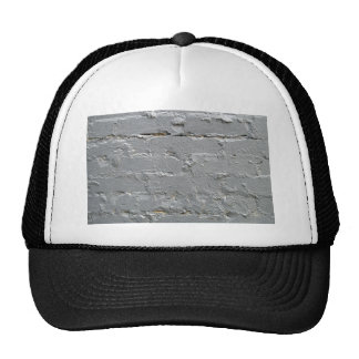 Detail of a brick wall close-up trucker hat