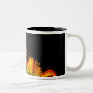 Detail of a captive western tiger swallowtail Two-Tone coffee mug