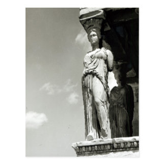 Detail of a caryatid from the Erechtheion Postcard