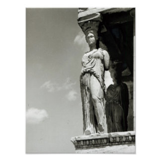 Detail of a caryatid from the Erechtheion Poster