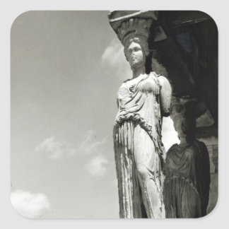 Detail of a caryatid from the Erechtheion Square Sticker