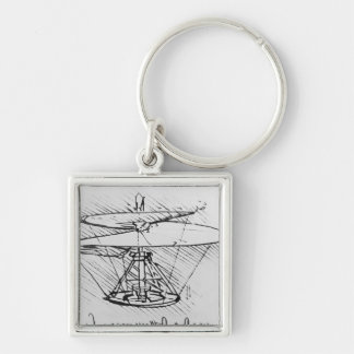 Detail of a design for a flying machine, c.1488 keychain