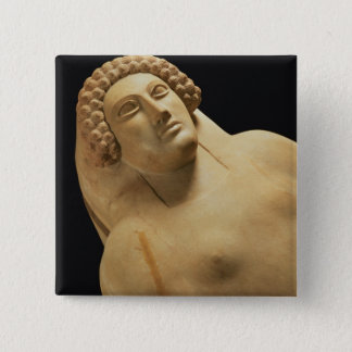 Detail of a female sarcophagus from Cadiz, 5th-4th Pinback Button
