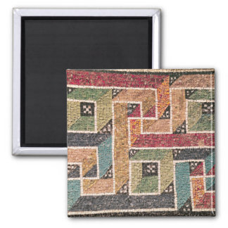 Detail of a frieze from the vault 2 inch square magnet