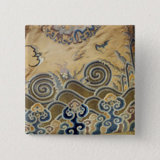 Detail of a funerary robe, Qing Dynasty Button