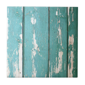 Detail of a green fence from wooden planks tile