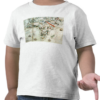 Detail of a map of the world showing Africa T Shirts