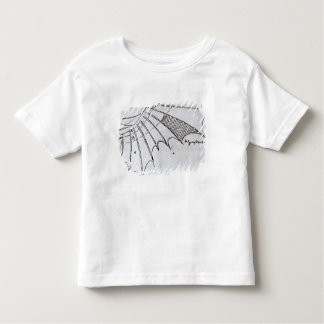 Detail of a mechanical wing toddler t-shirt