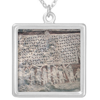 Detail of a picture stone depicting a Viking Square Pendant Necklace