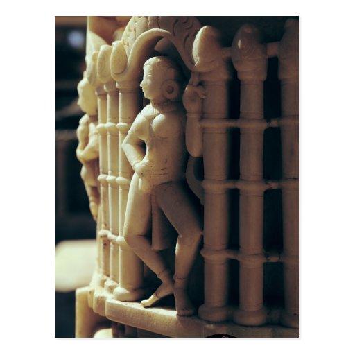Detail of a pillar, c.1230 AD Postcard