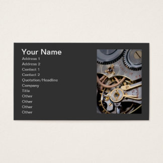 Detail of a pocket watch business card
