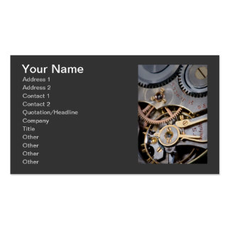 Detail of a pocket watch business card templates