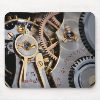 Detail of a pocket watch mouse pad