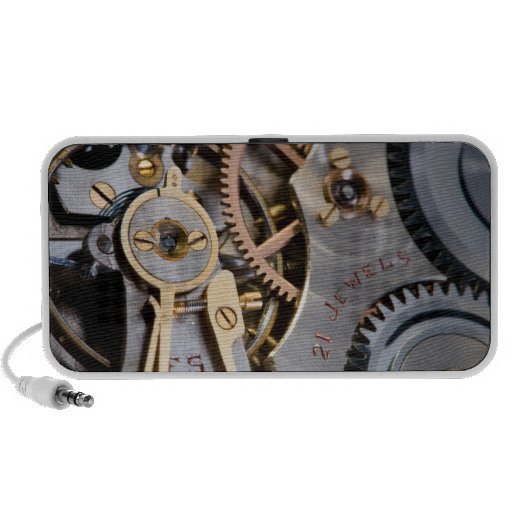 Detail of a pocket watch portable speaker