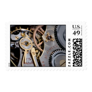 Detail of a pocket watch stamps