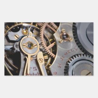 Detail of a pocket watch rectangular sticker