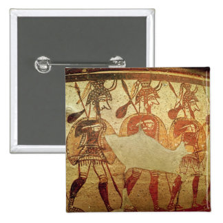 Detail of a red figure krater 2 inch square button