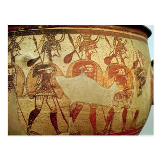 Detail of a red figure krater postcard