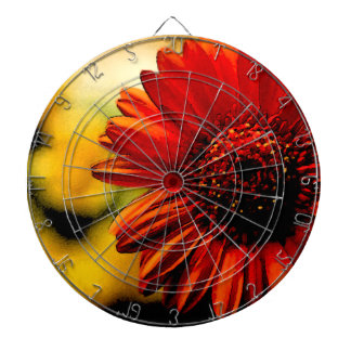 Detail of a Red Flower Dart Boards
