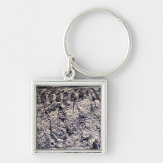 Detail of a ritual procession Silver-Colored square keychain