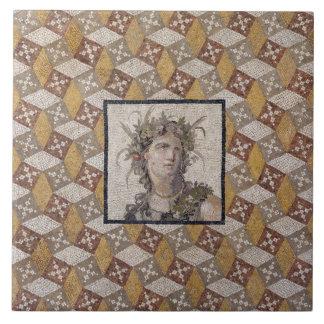 Detail of a Roman Mosaic Floor Panel - Tile