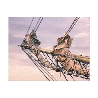 Detail of a sailing ship canvas print