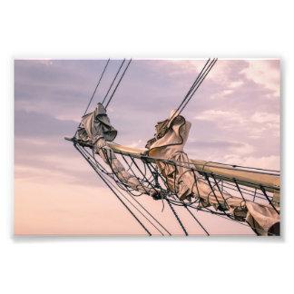 Detail of a sailing ship on the Baltic Sea Photo Print